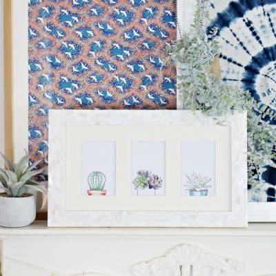 Watercolor Succulents Set Of Printable Art