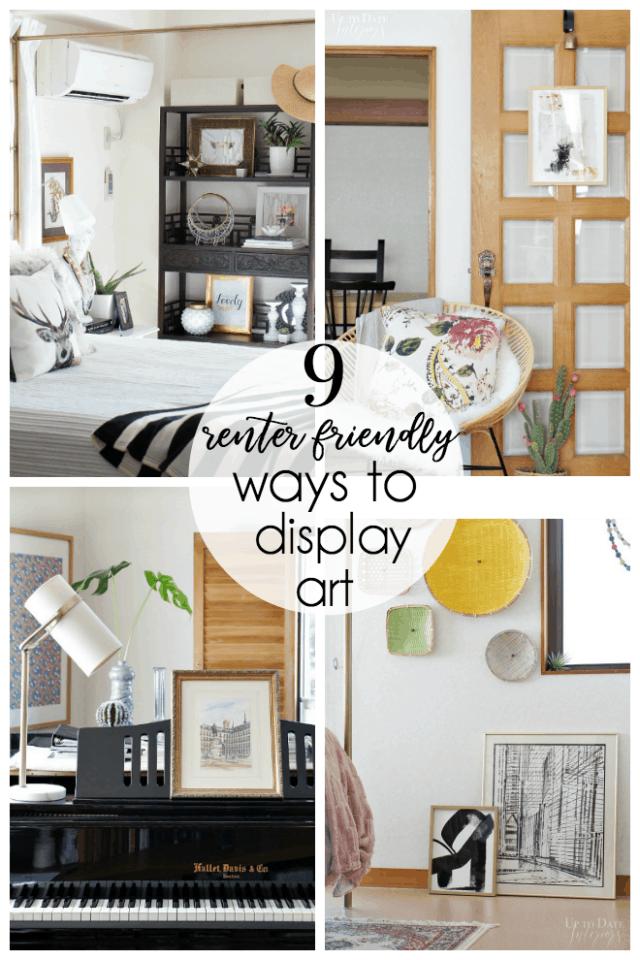 Nine Renter Friendly Ways To Display Art