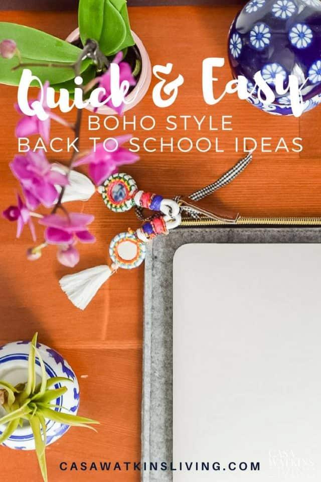 quick boho back to school ideas