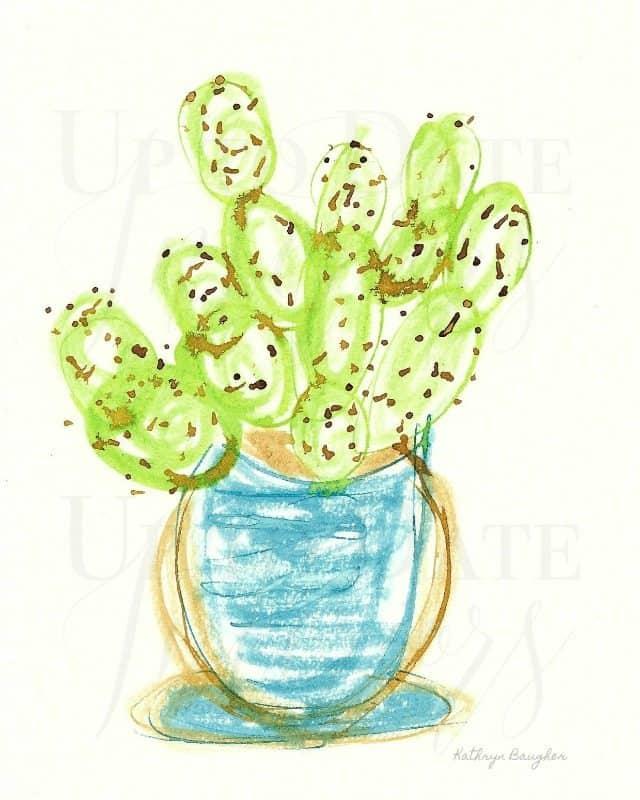 8x10 Cactus Ink Illustration 640 Watermark