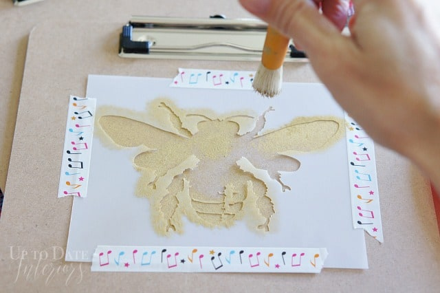 Bee Stencil Gold Clipboard Back To School