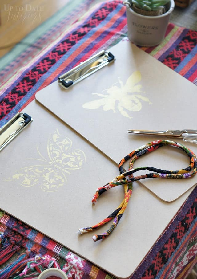 Stenciled Clipboards Back To School Japanese Cording