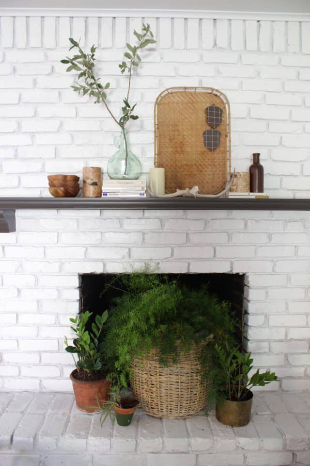 A Scandinavian Inspired Mantel for Fall