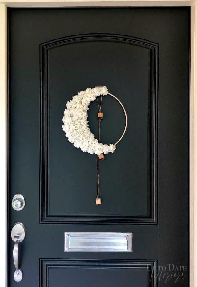 Diy Floral Crescent Moon Modern Halloween Wreath