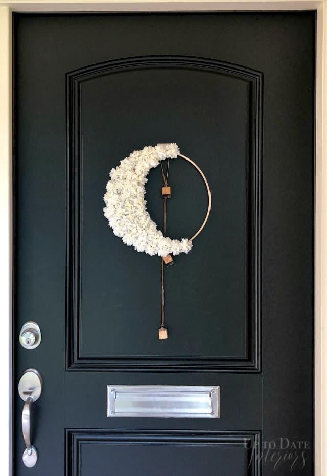 Diy Floral Crescent Moon Modern Halloween Wreath