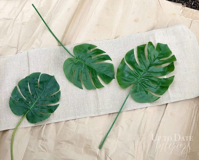 Diy Stencil Botanical Table Runner