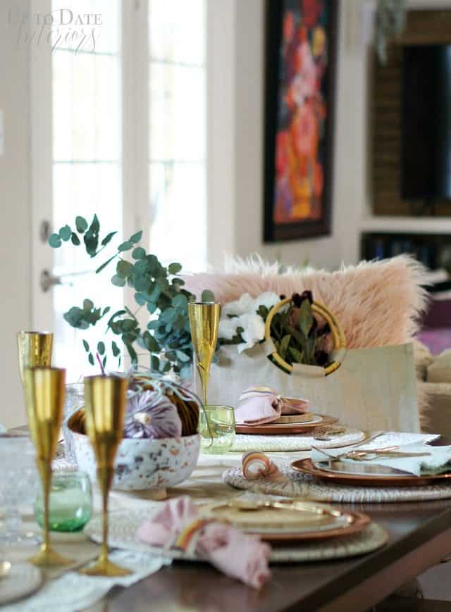 Fall Tablesetting Pink Green