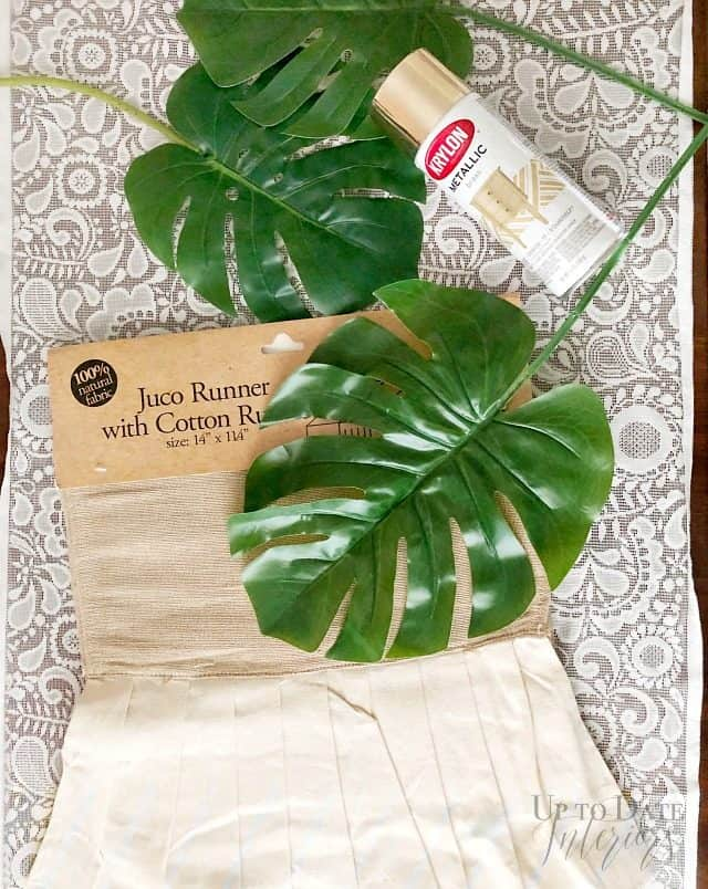 Juco Runner Ruffle Monstera Gold
