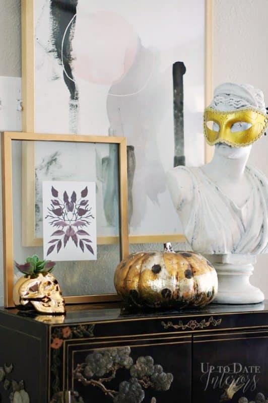 Leaf Mirror Print Halloween Glam