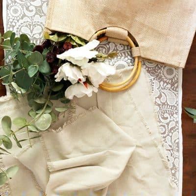 Linen Napkins Jute Bag