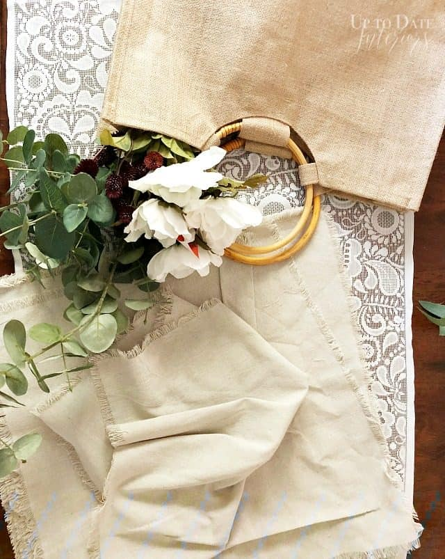 Linen Napkins Jute Bag
