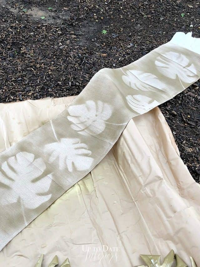 Stenciled Leaves Table Runner
