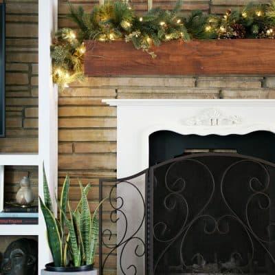 Tree Classics Garland Eclectic Fireplace Seasonal Mantel