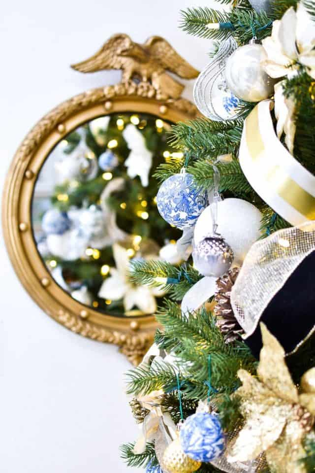 Blue White Christmas Decor Ideas