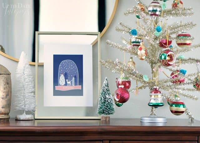 Scandinavian Print Night Winter Snowglobe