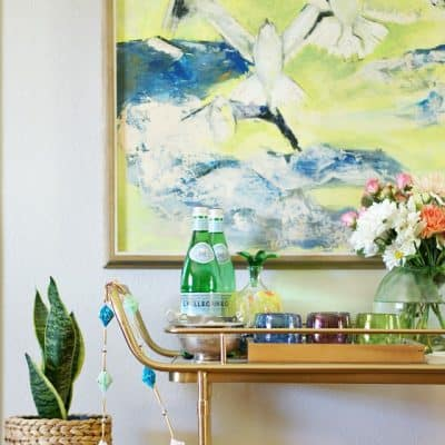 Bar Cart Easy Entertaining Tips