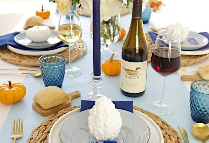 Blue Orange Thanksgiving Tablescape2