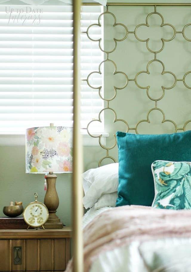 Boho Glam Bedroom Retro Clock
