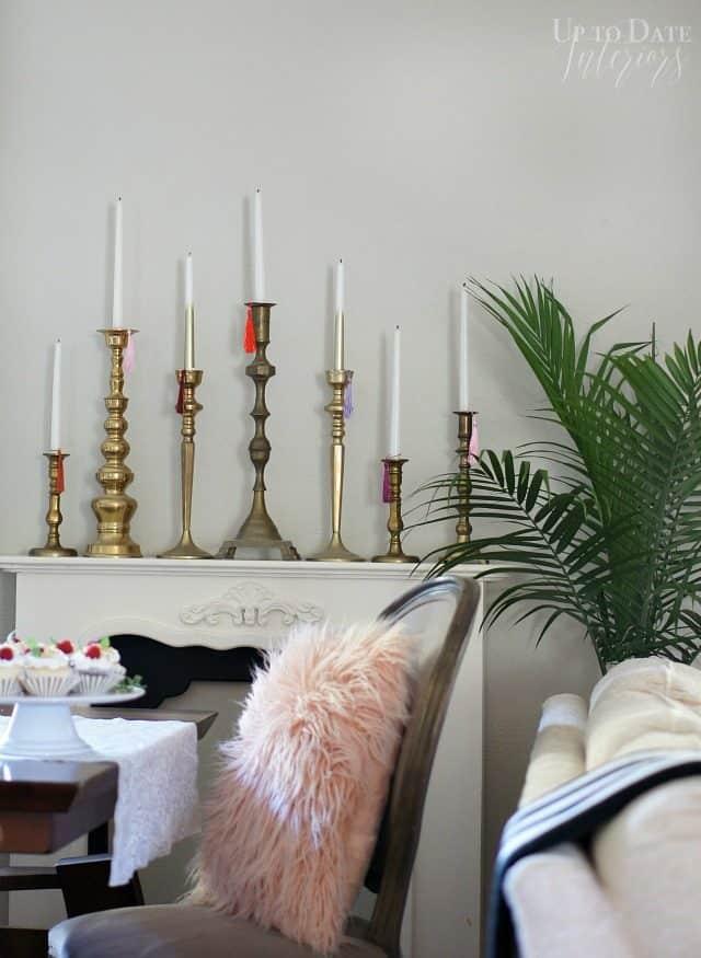 Candlesticks Mantel With Tassels
