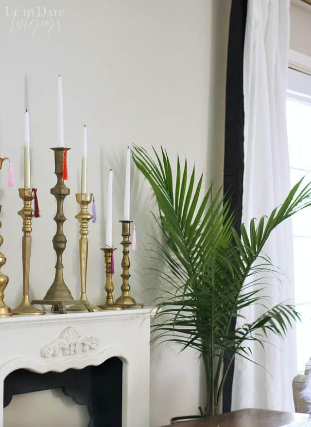 Candlesticks Palm Tree Holiday Decor Boho