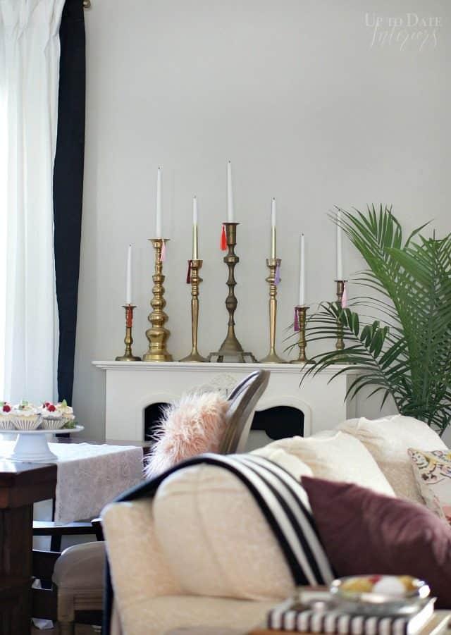 Candlesticks Tassels Holiday Decor