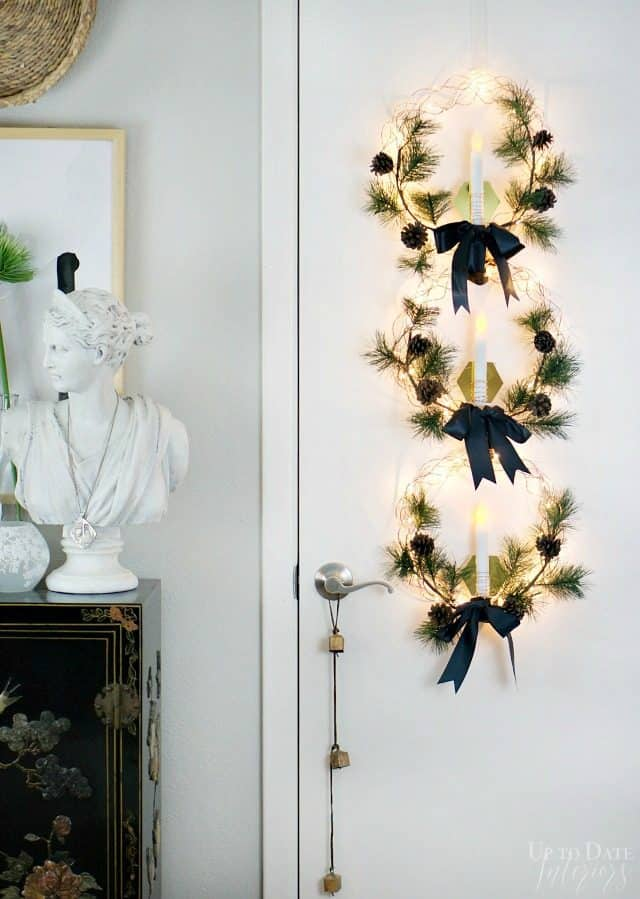 Christmas Door Hanging Copper Wreaths Candle Sconces