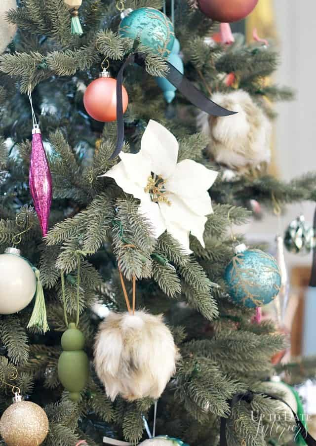 Colorful Eclectic Ornaments Christmas Tree