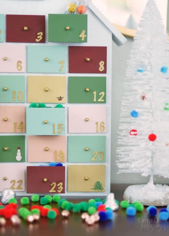 Diy Advent Calendar Wooden Colorful