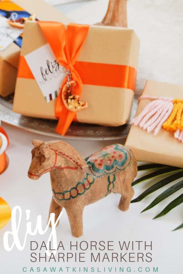 Diy Dala Horse Sharpie Markers