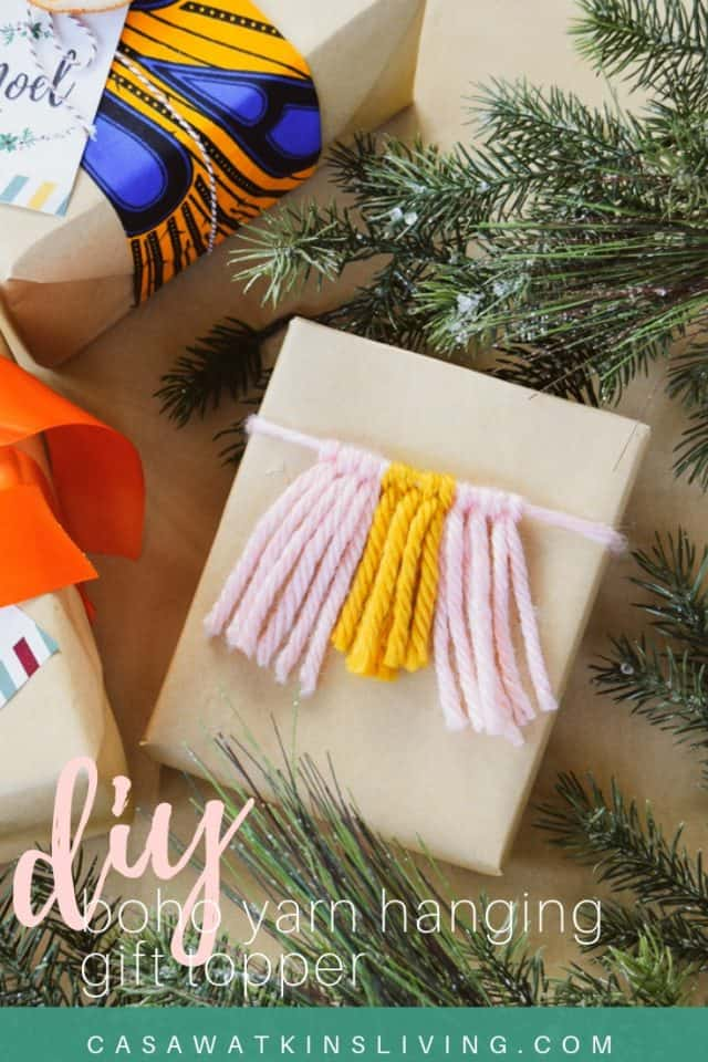 Diy Yarn Hanging Gift Topper Tutorial
