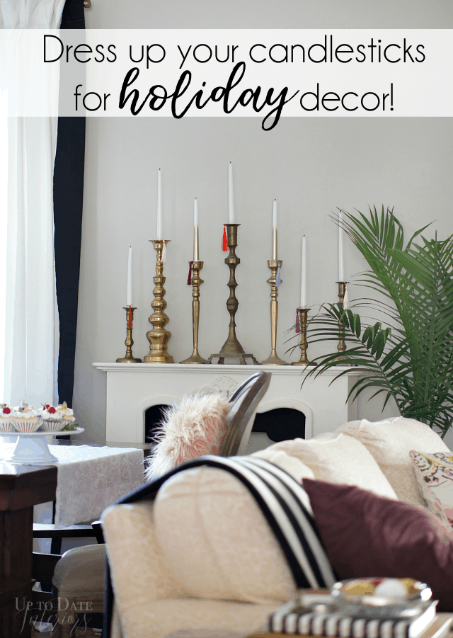 Dress Up Candlesticks With Tassels For Holidays