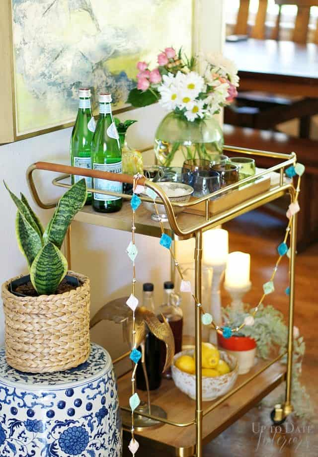 Easy Bar Cart Styling Steps