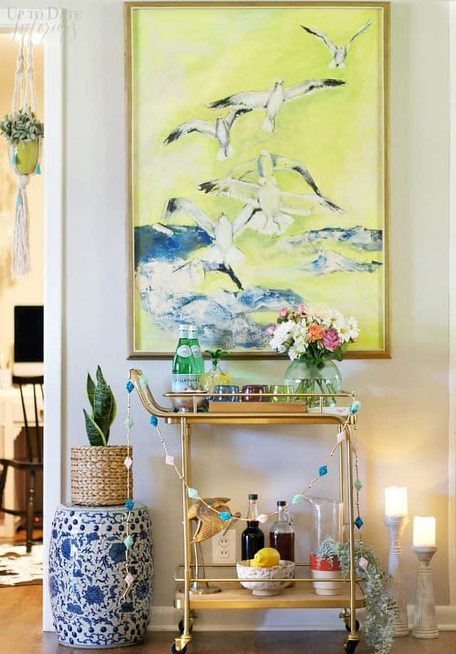 Easy Bar Cart Styling Tips