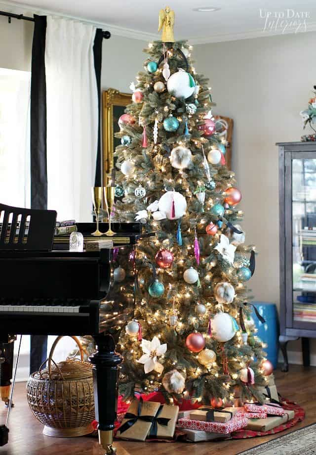 Eclectic Modern Christmas Tree Tall With Piano