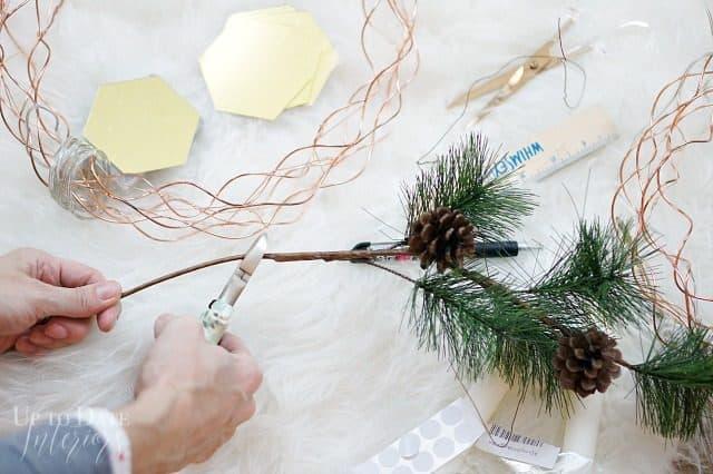 Evergreen Stems Scandi Wreath
