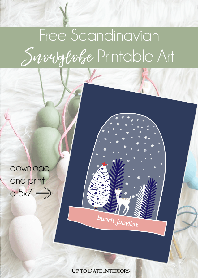 Free Scandinavian Snowglobe Printable Art