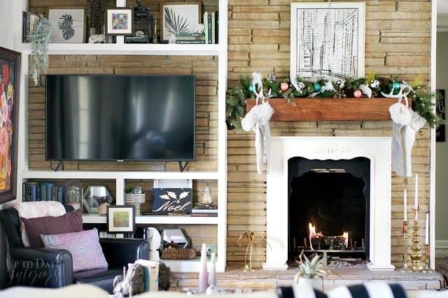 Global Eclectic Christma Living Room