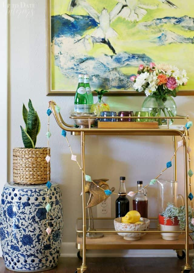Global Inspired Bar Cart