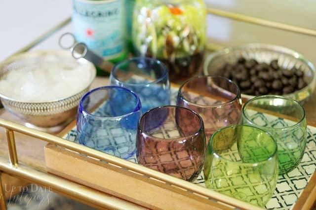Japanese Glass Global Bar Cart Easy Entertaining