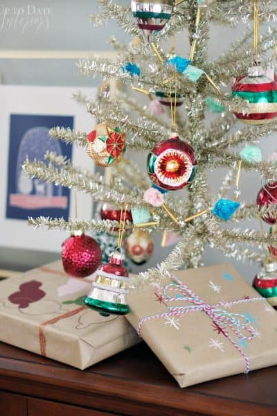 Painted Wrapping Paper Ornaments Stars