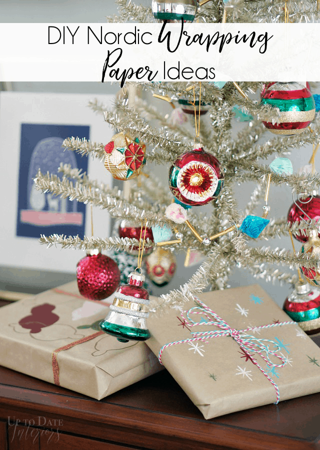 Painted Wrapping Paper Ornaments Stars Pinterest