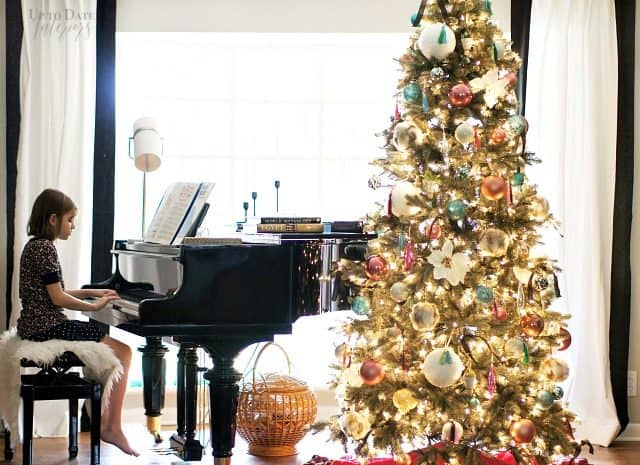 Piano Picture Window Christmas Tree