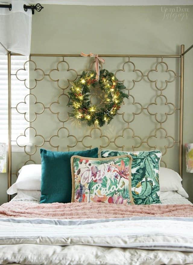 Christmas Wreath Bedroom