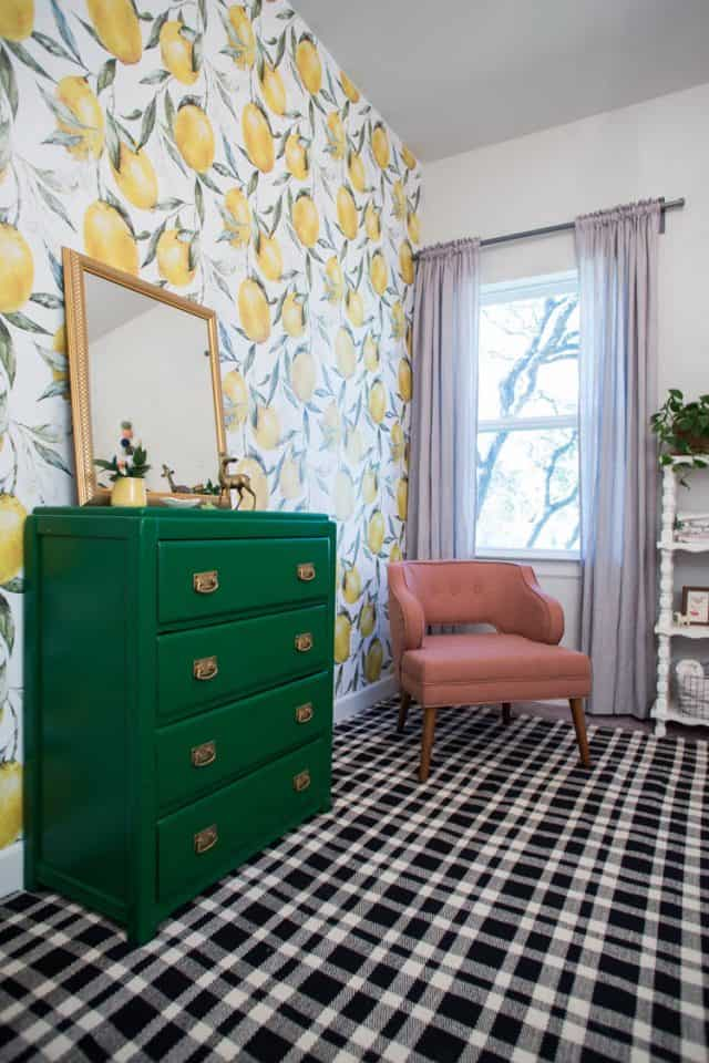 Lemon Wallpaper Little Girls Room 5