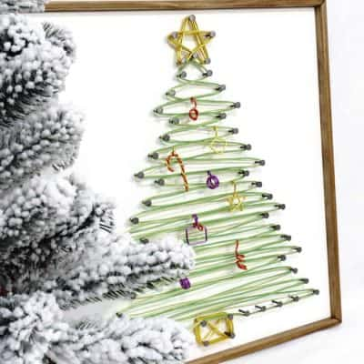 Sting Art Christmas Tree Tall Side1