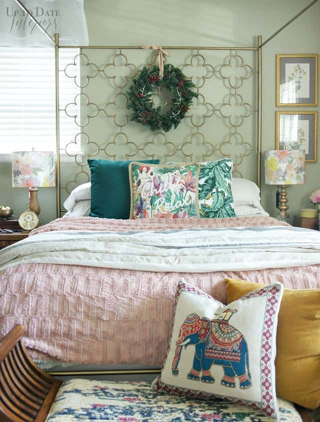 Christmas Bedroom Eclectic