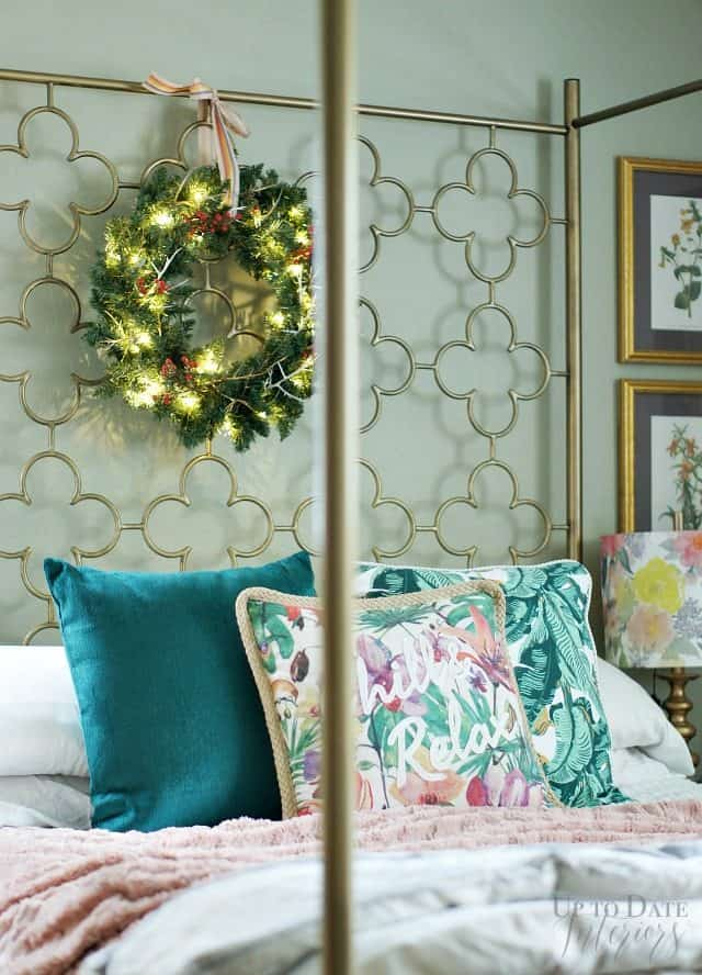 Christmas Wreath Bedroom Boho Glam