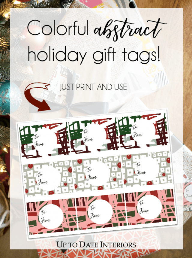 Holiday Abstract Gift Tags Pinterest