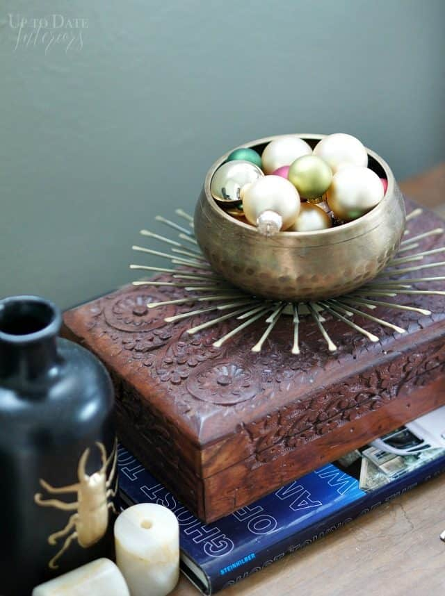 Ornaments Brass Bowl Bedside Table