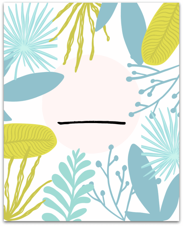 botanical print to fill in